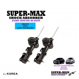Kia Rio UB Kia K2 2012-2017 Front Left And Right Supermax Gas Shock Absorbers